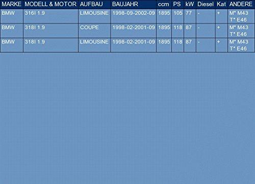 f/ür 316I 318I 1.9 LIMOUSINE COUPE 105//118hp 1998-2002 ETS-EXHAUST 3131 Vorschalld/ämpfer