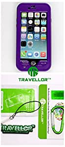 "Travellor® New Apple iPhone 6 plus Case,Attached Screen Protector-Apple iPhone 6 plus Slim Fitted with stand Waterproof Shock proof Dust proof Dirt proof Snow proof Hard Shell Cover Case for iPhone 6 5.5 inch(NOT compatible to iPhone 6 4.7"""")Gifts Outdoor Carabiner + Professional Lens Wipes+Screen Dedusting Chain(Travellor Brand) (Plus purple)"