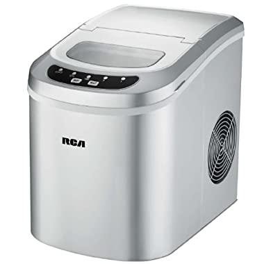 RCA RIC102-Silver Compact Ice Maker, Silver