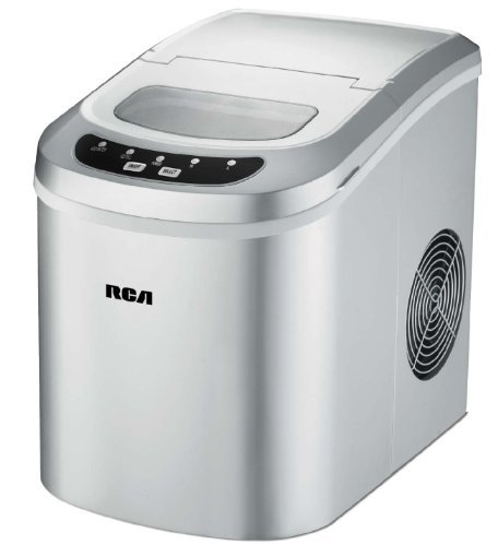 RCA RIC102-Silver Compact Ice Maker, Silver