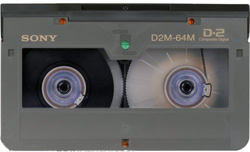 Sony D2 Medium Cassette 64 Minutes