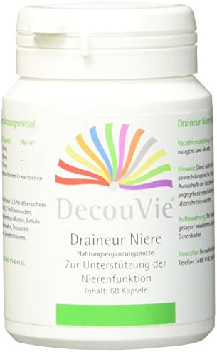 DecouVie Draineur Niere, zur Unterstützung des Nierenstoffwechsels, 30g I 60 Kapseln