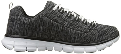 Skechers Sport Damen Synergie Spot On Fashion Sneaker, Heather Black