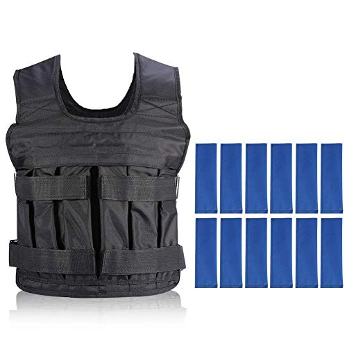 Yosoo Weight Vests Adjustable Weighted Vest Running Gym Training Running Jackets Workout Exercise Loss Weight Jackets Sand Loading Cloth (Weights not Included)