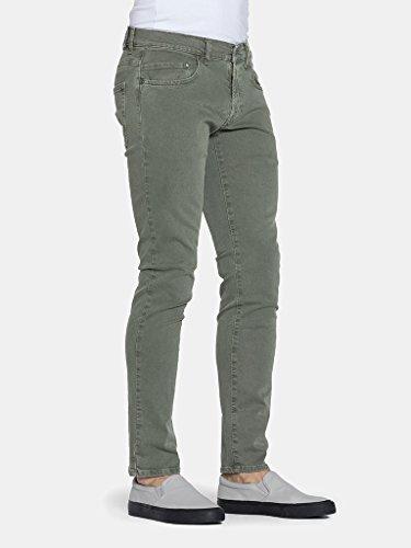 Slim Vaqueros Carrera Olive Hombre Jeans para wY0qq6aE
