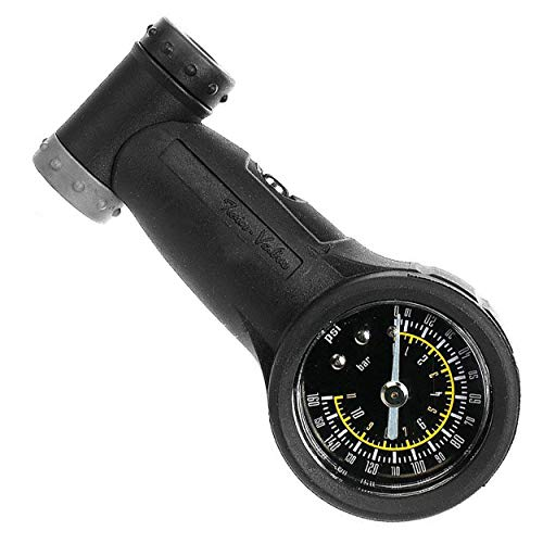 Venzo Bicycle Accurate Tire Pressure Gauge 160 PSI / 11 Bar Presta Schrader Compatible -