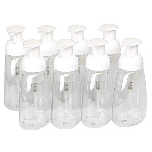 8 Oz Foaming Hand Soap (Foaming Soap Dispensers Pump-Bottles Bar Plastic Soap Dispenser Bottle Pump Set,300ml,pack of 8 by Hierkryst)