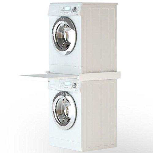 - Unfade Memory Washing Machine Stacking Kit with PullOut Shelf