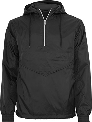 black Classics Uomo Nero Pull Over Urban Windbreaker Giacca TP44w
