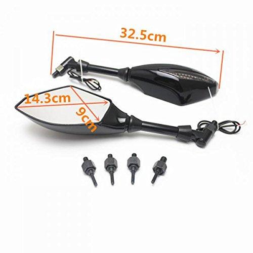 Sharplace 2/x specchietti retrovisori LED frecce con fumo di 1087/per motocicletta