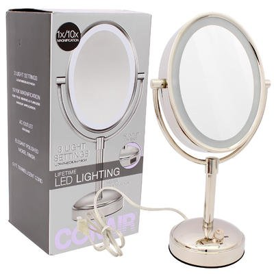 Magnifying Mirror Conair Lighting Polished