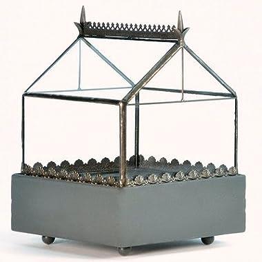 H Potter Square Glass Plant Terrarium Gothic Style Planter Box WAR147