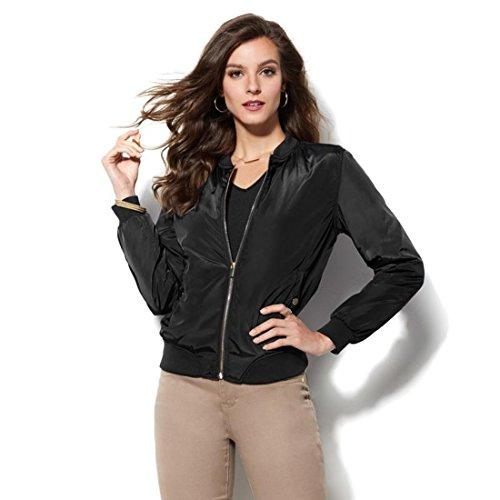 Iman Runway Chic Luxurious Animal-Print Zip Bomber Jacket Black XL New (Animal Print Zip Jacket)