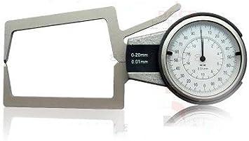 Fafeicy Calibro di Spessore Digitale con Quadrante Rotondo Strumento di Misurazione di Precisione con Punta Piatta Gamma di Punte da 0-10 Mm Pointed Head