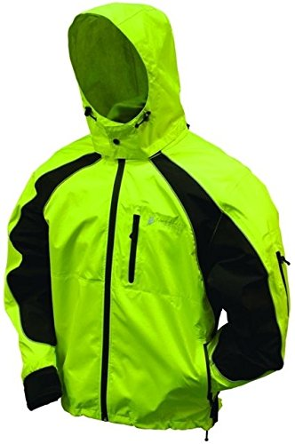 Frogg Toggs NT65119 Toadz Kikker II Reflective Waterproof Rain Jacket, Hivis Green with Black, X-Large