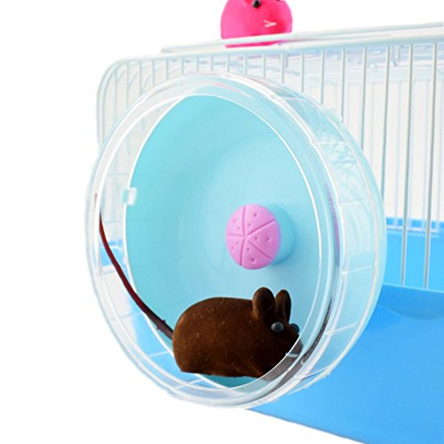 (ASOCEA Pet Hamster Exercise Running Spinner Wheel Toys Silent Plastic Jogging Toy for Gerbils Mice Guinea Pig and Other Small Animal Cage)
