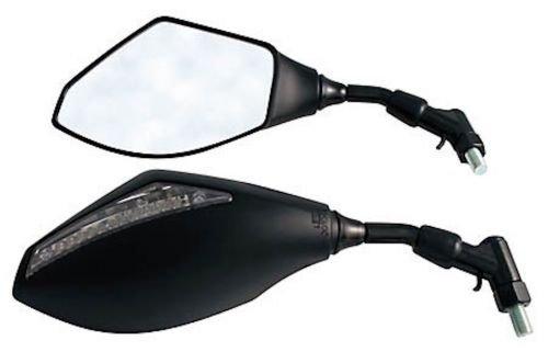 Lenker Spiegel Set mit LED Blinker Schwarz fü r Motorrad Roller Quad E-Prü fzeichen