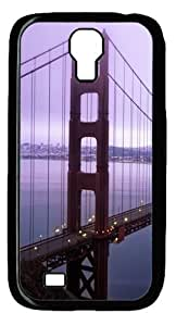 Cool Painting Violet Hour And Fog Surround The Golden Gate Polycarbonate Hard Case Cover for Samsung Galaxy S4/I9500