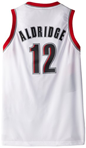 NBA Portland Trailblazers Lamarcus Aldridge Youth 8-20 Swingman Home Jersey, Medium, White