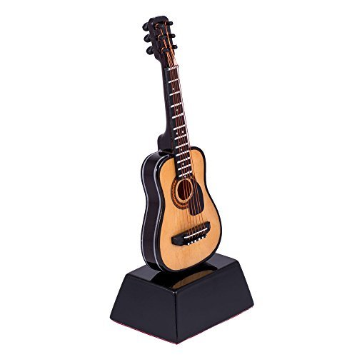 string guitar with pick guard music instrument miniature replica on stand size 6 in buy. Black Bedroom Furniture Sets. Home Design Ideas