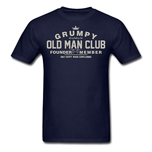 Spreadshirt Funny Grumpy Old Man Club Men's T-Shirt, 2XL, Navy