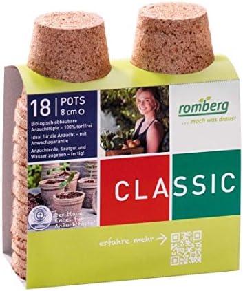 Romberg Maceta biodegradable redondo 8 cm por 18: Amazon.es: Hogar
