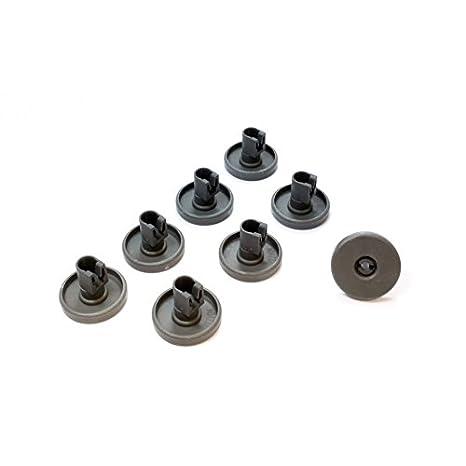 Kit ruote cesto inferiore lavastoviglie REX 8 pezzi grigie modello ...