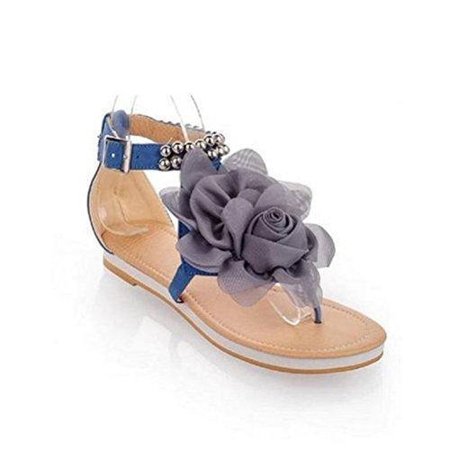 De Chaussures Bohême Glissement Fleur Chaussure Bleu Accessoires vqxqt6Zf