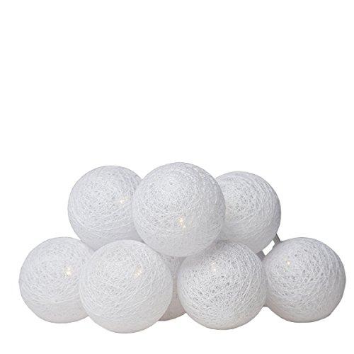 Takestop® Bolas pelota 7 cm Blanca luminosa alambre 3 metros a ...