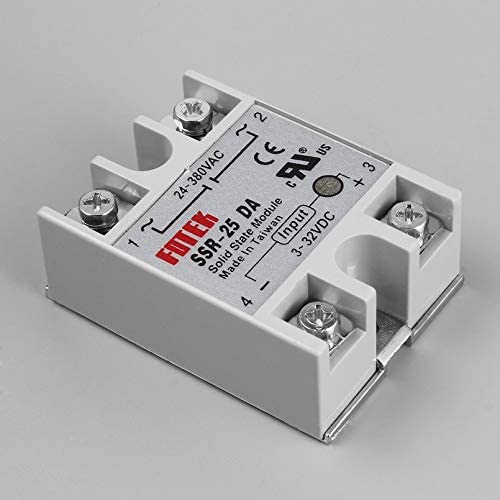 sahnah Solid State Relay Module SSR-25DA 25A //250V 3-32V Input 24-380VAC Output