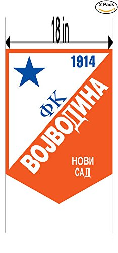 fan products of Vojvodina Yugoslavia Soccer Football Club FC 2 Stickers Car Bumper Window Sticker Decal Huge 18 inches