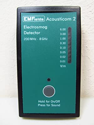 Acousticom 2 RF Meter Radio Frequency Meter EMF Protection. Affordable, Small, Accurate, High Quality RF Detector - Protect Yourself from EMF
