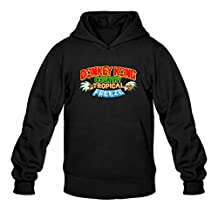 TIANRUN Men's Donkey Kong Country Funny Game Logo Hoodies Size L