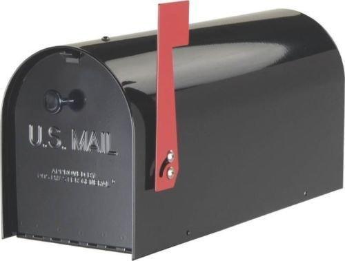 "New Solar Group Tb1b0000 ""tuffbody"" Black Heavy Duty Rural Mailbox Sale 7277437"