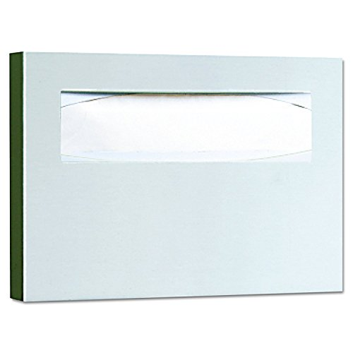 Bobrick 221 Stainless Steel Toilet Seat Cover Dispenser, 15 3/4 x 2 x 11, Satin Finish (Pack of 2) by Bobrick (Image #1)