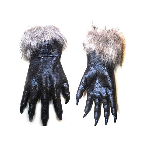 Naisidier Wolf Gloves Horrific Costume Accessory for Halloween and Cosplay