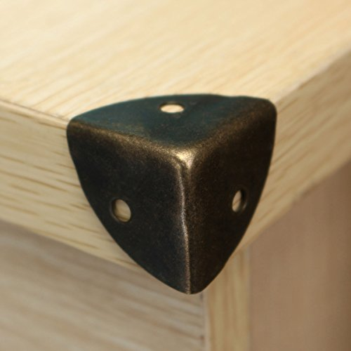 Corner Bracket (12Pcs/Lot Black Corners Brackets Table Desk Corner Children Safety Edge Guards For Home)