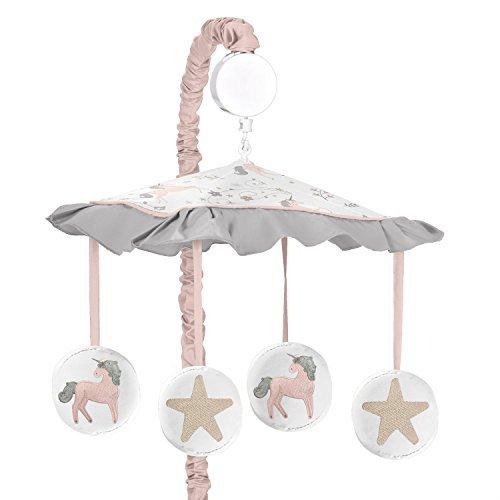 魅力的な Pink Grey and Pink Gold Musical Grey Baby Crib Mobile for Musical Unicorn Collection by Sweet Jojo Designs [並行輸入品] B07J6RJSW8, フィオーレスポーツ ゴルフ専門店:235aa8a5 --- kilkennyhousehotel.ie