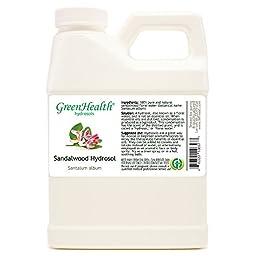 Sandalwood Hydrosol - 16 fl oz Plastic Jug w/ Cap - 100% pure, distilled from essential oil