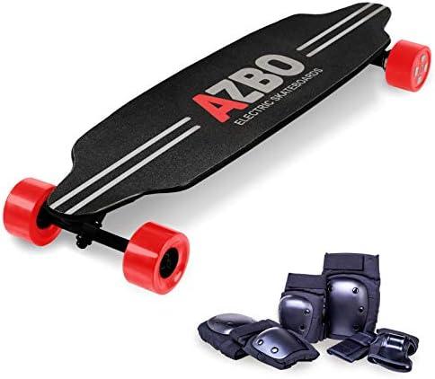 Electric Skateboard Longboard with Remote Control by AZBO 2000W Dual Motor UL2272 Certified High Speed 25 MPH Motorized Wireless H6 Board 19 Miles Range