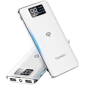 モバイルバッテリー 大容量 15600mAh スマホ充電器 LCD残量表示