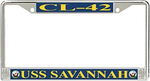 nnah CL-42 Metal License Plate Frame - American Made - Made in USA (Savannah Two Metal)