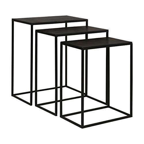 (Uttermost 3-Pc Iron Nesting Table Set )