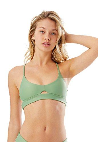 Speedo Women's Helena Top Bikini, Palm, X-Small (Piece Speedo Swimsuit Two)