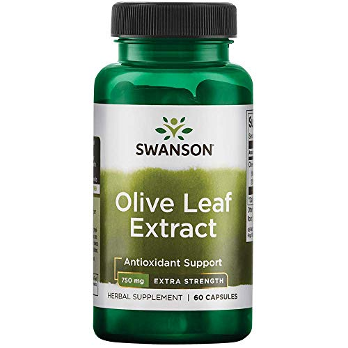 Swanson Olive Leaf Extract Super Strength 750 Milligrams 60 Capsules