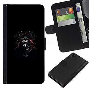 All Phone Most Case / Oferta Especial Cáscara Funda de cuero Monedero Cubierta de proteccion Caso / Wallet Case for Sony Xperia Z2 D6502 // Darth Terminator Lord - Funny