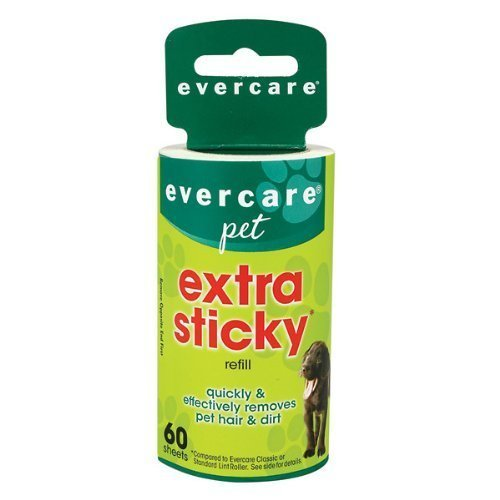 Evercare Extra Sticky Pet Lint Roller Refill 60 sheets - Pack of - Pickup Roller Hair Pet
