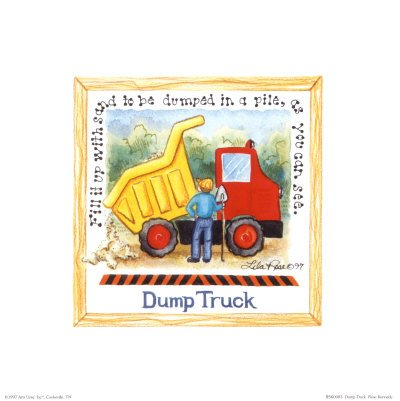 Dump Truck Art Poster Print by Lila Rose Kennedy