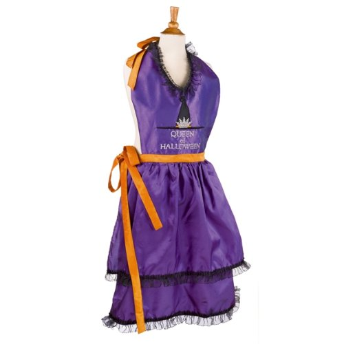 "Grasslands Road Queen of Halloween"" Apron, 39 by 32-Inch,..."