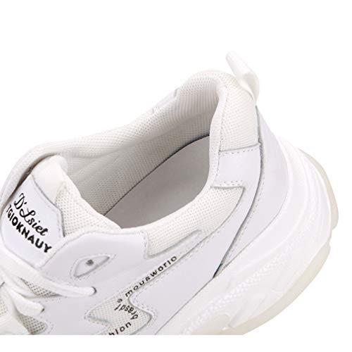 white Entrenamiento Zapatos Las Casuales Confort Atléticos Nuevos 35 Cuero Yan Running 2019 Zapatillas Transpirable Deportivos Mujeres De ZSAqRnW